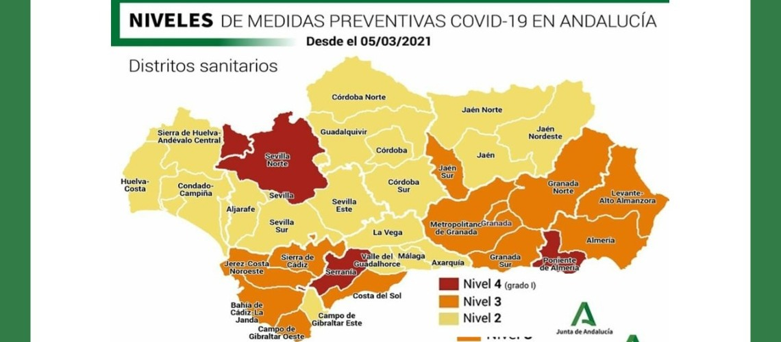 ANDALUSIA MAINTAINS MOST OF THE CURRENT MEASURES TO AVOID A FOURTH WAVE OF THE PANDEMIC COVID19