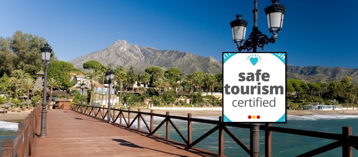 MARBELLA OBTAINS THE TOURIST SECURITY SEAL GRANTED BY THE WORLD TRAVEL TOURISM COUNCIL 'SAFE TRAVEL STAMP'